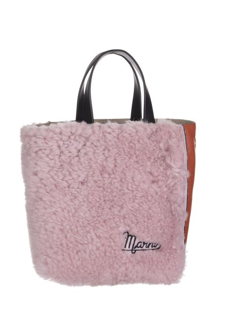 Pink And Orange Soft Mini Museum Bag In Leather and Shearling MARNI | Bags | SHMP0040Q5-LM071Z2O09