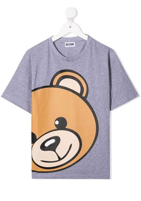 Kids Grey Moschino Teddy Bear T-Shirt MOSCHINO KIDS | t-shirts | HXM02XLBA1260901