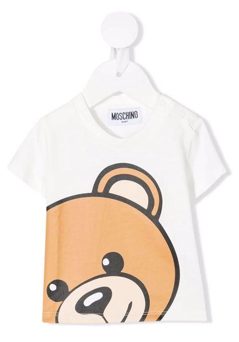 T-Shirt Moschino Teddy Bear Bianca Baby MOSCHINO KIDS   T-Shirts   M9M02ALBA1210063
