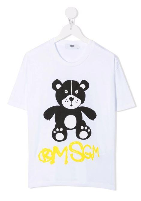 T-Shirt Kids Teddy Bear Bianca MSGM KIDS | T-Shirts | MS028725001