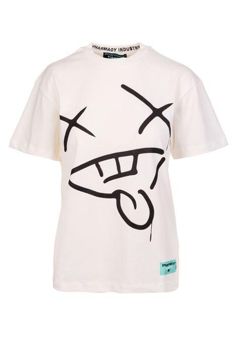 Woman White Xanny T-Shirt PHARMACY INDUSTRY | t-shirts | PHWSTMM313OFF WHITE