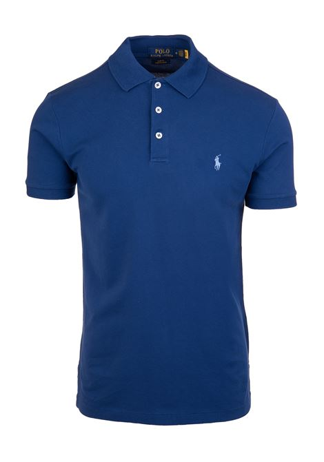 Man Royal Blue Slim Fit Pique' Polo RALPH LAUREN | Polo shirts | 710-541705182
