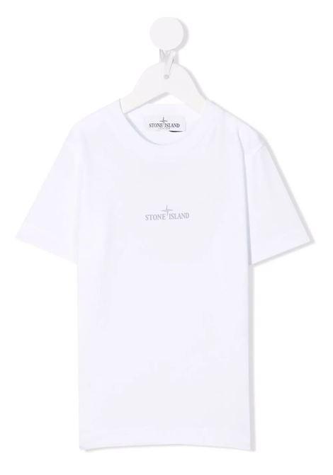 T-Shirt Kids Bianca Con Logo STONE ISLAND JUNIOR | T-Shirts | 751621058V0001
