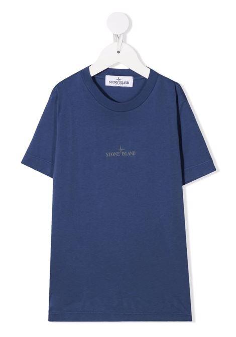 T-Shirt Kids Blu Scuro Con Logo STONE ISLAND JUNIOR | T-Shirts | 751621058V0027