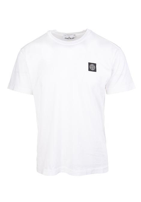 T-Shirt Regular Fit Bianca Con Logo Uomo STONE ISLAND   T-Shirts   751524113V0001