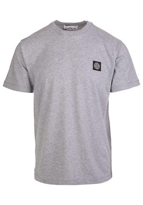 Man Regular Fit Grey T-Shirt With Logo STONE ISLAND | t-shirts | 751524113V0M64