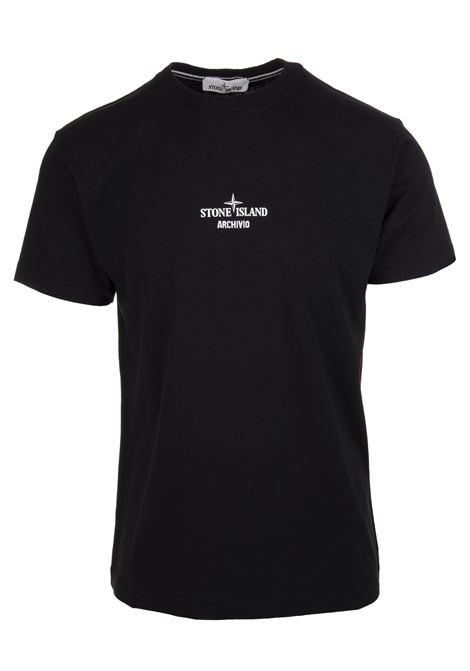 Man Black Slim Fit ARCHIVIO T-Shirt STONE ISLAND | t-shirts | 75152NS91V0029