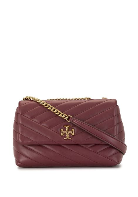 Kira Small Convertible Shoulder Bag In Burgundy Chevron TORY BURCH | Bags | 64963609