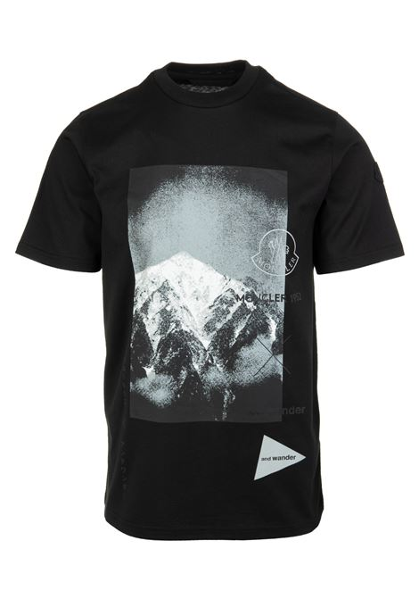 T-Shirt Nera Con Logo e Stampa Grafica Uomo MONCLER 1952 | T-Shirts | 8C000-10 829FB999