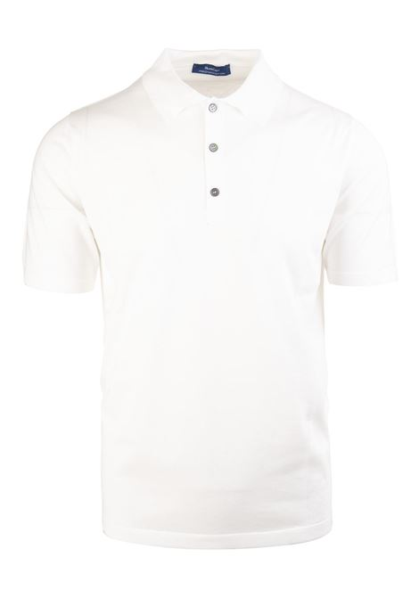 Russo Capri White Polo Shirt RUSSO CAPRI | Polo shirts | 181TPOU-5140/MC-RC01GI