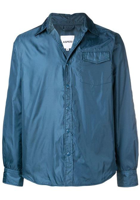 Avio Blue Minimal Shirt Jacket ASPESI   shirts   6I24 796196475