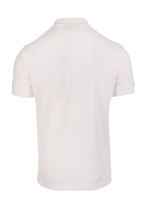 070f2bdcc WHITE CLASSIC POLO SHIRT WITH TARTAN PLACKET