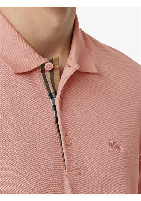8ffcb75fb ... Polo Shirt With Tartan Placket. 8005283CHALK PINK. 8005283CHALK PINK