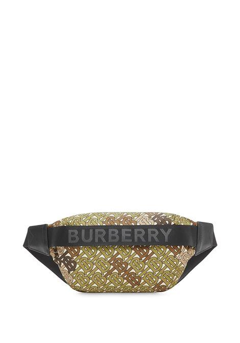 e590060740fd Khaki Green Medium Waist Bag With Monogram Print - BURBERRY - Russocapri