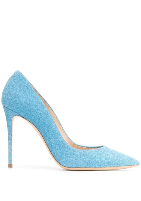 Light Blue Glitter Pumps CASADEI   shoes   1F121D100.SELE158