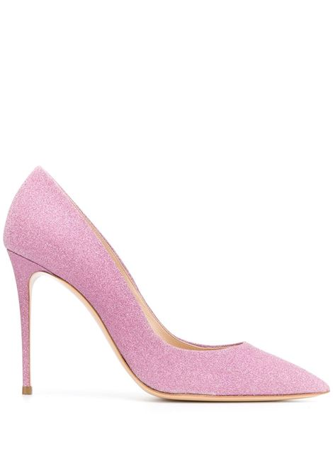 Pink Glitter Pumps CASADEI   shoes   1F121D100.SELE60P