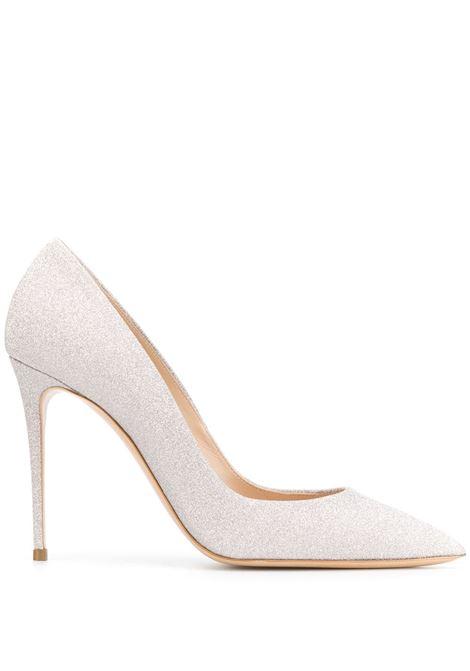 White Glitter Pumps CASADEI   shoes   1F121D100.SELE970