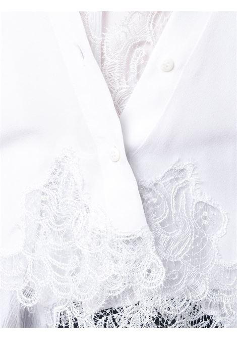 pretty nice 78b28 40411 Camicia In Seta Bianca Con Pizzo - ERMANNO SCERVINO - Russocapri