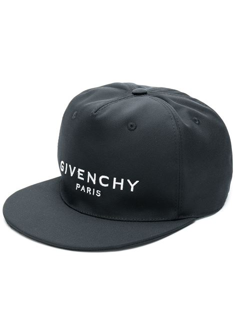 1133c94ede0 Black Cap With Flat Visor GIVENCHY PARIS - GIVENCHY - Russocapri