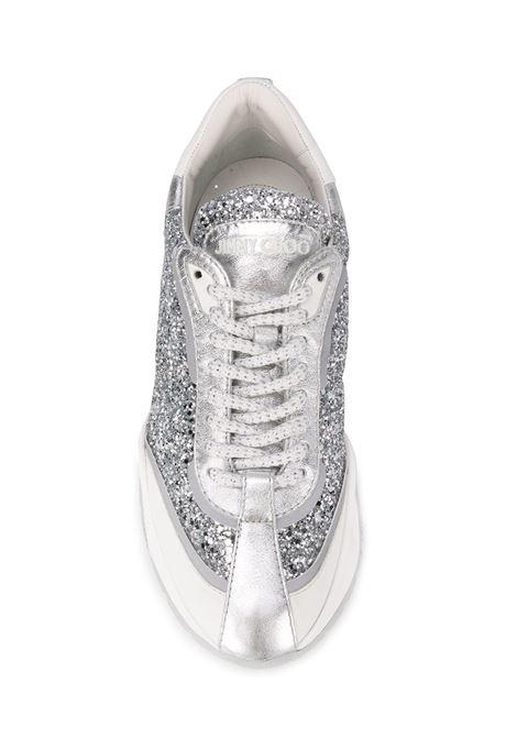 46497cd7ff RAINE Sneakers In Silver Glitter - JIMMY CHOO - Russocapri