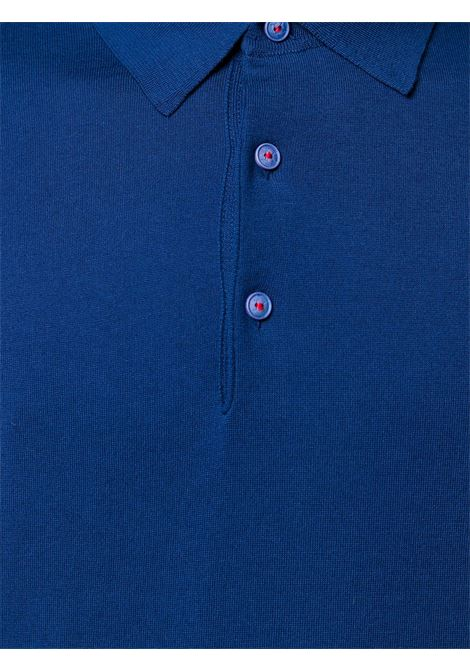 149be8fe3 Blue Navy Cotton Polo - KITON - Russocapri