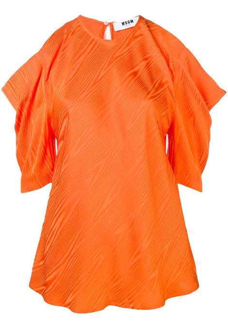 Blusa Arancione Con Dettaglio Cut-Out MSGM | Bluse | 2642MDM126-19512410