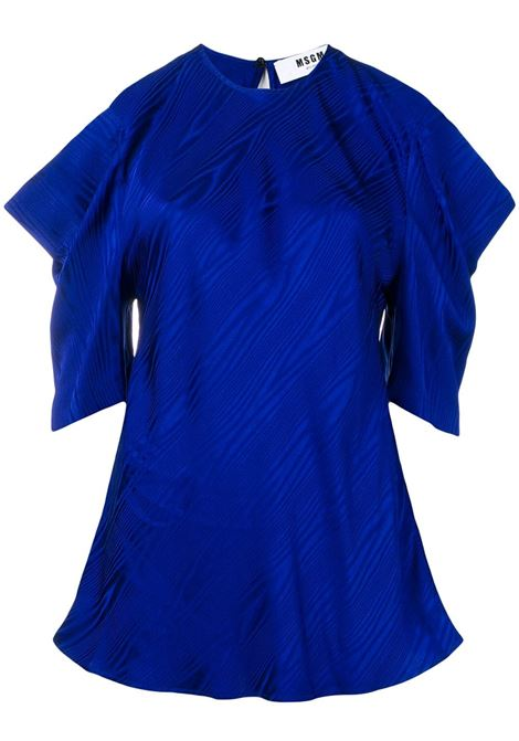 Blusa Blu Con Dettaglio Cut-Out MSGM | Bluse | 2642MDM126-19512485