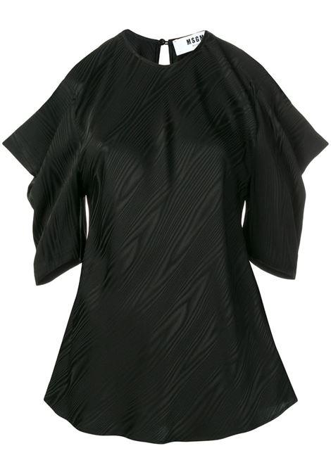 Blusa Nera Con Dettaglio Cut-Out MSGM | Bluse | 2642MDM126-19512499