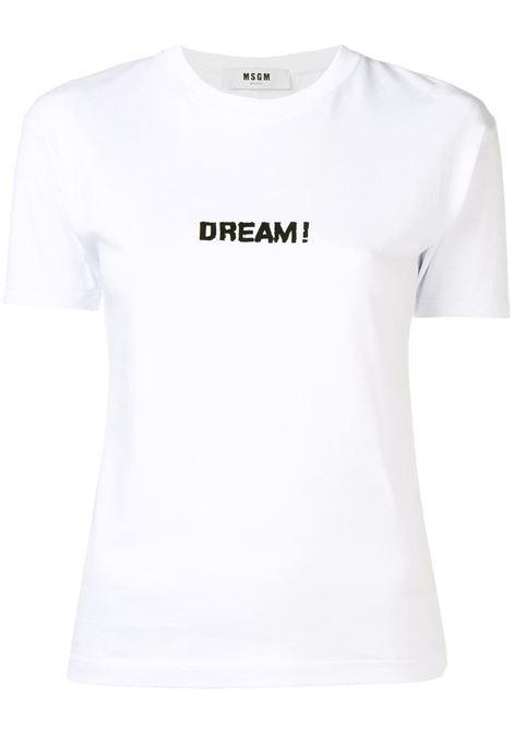 bb38f089cd7 Dream Print Short Sleeves T-shirt - MSGM - Russocapri