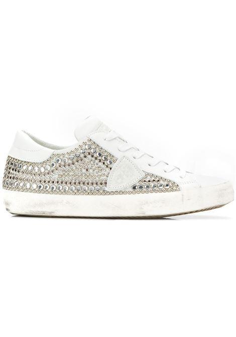 Sneaker Paris - Ethni Studs Blanc/Argent PHILIPPE MODEL   Sneakers   CLLDSE03