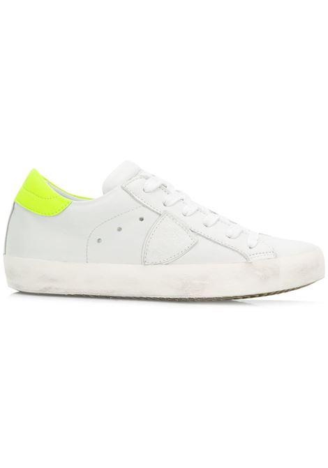 Sneaker Paris - Veau Neon Blanc/Jaune PHILIPPE MODEL   Sneakers   CLLDVN06