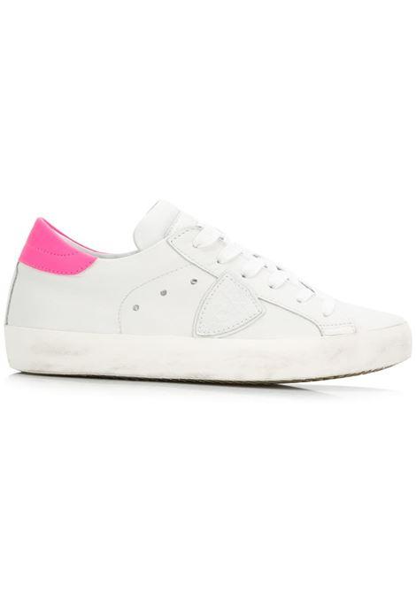 Sneaker Paris - Veau Neon Blanc/Fucsia PHILIPPE MODEL   Sneakers   CLLDVN09