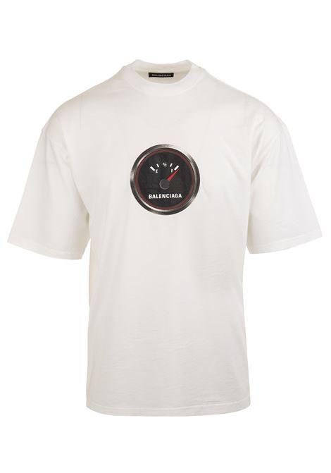 b44c7c1a8c33 White T-Shirt Shrunk Speed - BALENCIAGA - Russocapri