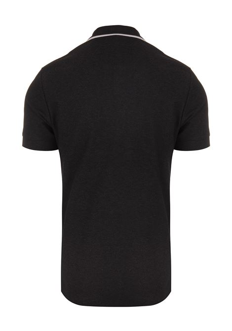 92b1bddad Black Polo Shirt With White Badge - BURBERRY - Russocapri