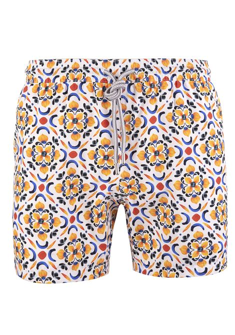 Swimsuit With Yellow and Blue Majolica CAPRI CODE | swilmsuits | S7901486 B7867001