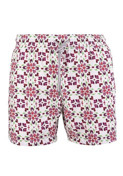 Swimsuit With Burgundy Majolica Pattern CAPRI CODE | swilmsuits | S7901487 B7874002