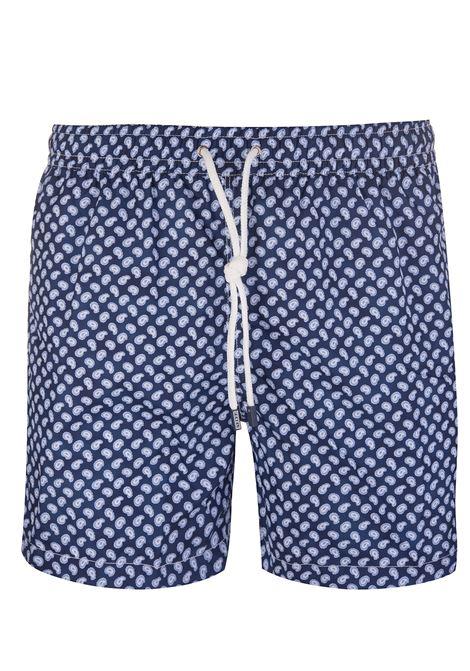 Navy Blue Madeira Paisley FEDELI | swilmsuit | 2UE00318B5157/14