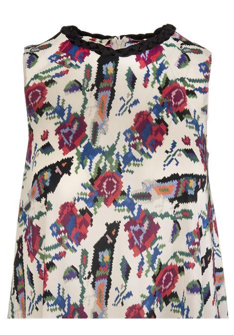 4b9825d8be0 Flower Printed Long Dress - RED VALENTINO - Russocapri