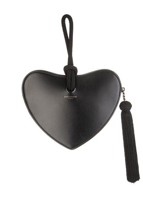 b907a1dbf Black Monogram Heart Minibag - SAINT LAURENT - Russocapri