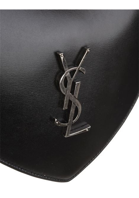 8f64e326d Heart Monogram Bag with CrossBelt Black - SAINT LAURENT - Russocapri