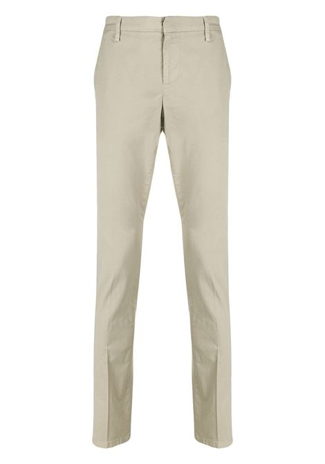 Pantaloni uomo sartoriali slim fit in cotone beige DONDUP | Pantaloni | UP235-GSE046 PTD019