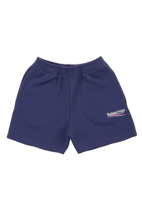 Blue Balenciaga Political Campaign Kid Bermuda Shorts BALENCIAGA KIDS | Shorts | 621789-TIVB41195