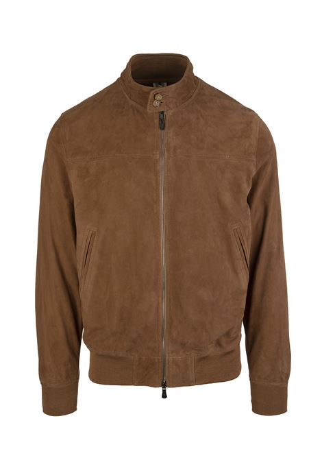 Man Jacket In Light Brown Suede FEDELI | jackets | 3UE00504VAR.2