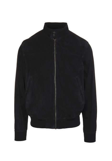 Man Jacket In Black Suede FEDELI | jackets | 3UE00504VAR.5