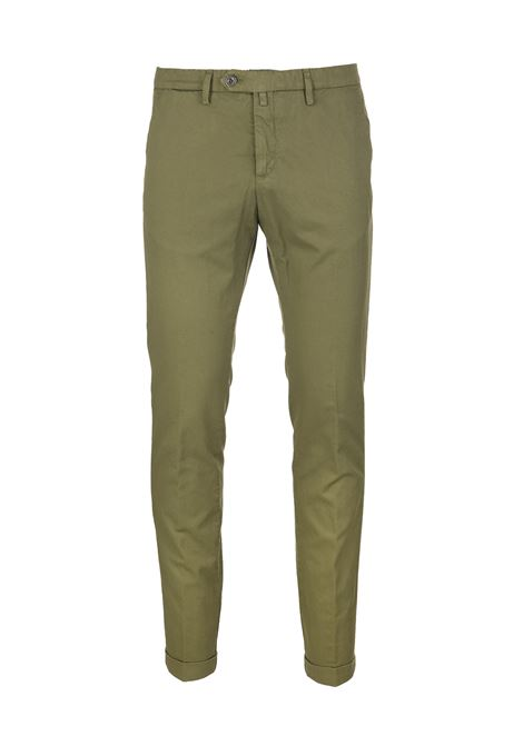 Olive Green Man Chino Pant BSETTECENTO | trousers | MH700-933195
