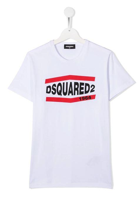 T-Shirt D2Kids 1964 Bianca DSQUARED KID | T-Shirts | DQ0150-D002FDQ100