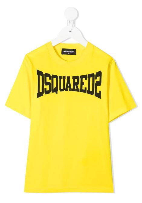 T-Shirt D2Kids Boxer Logo Gialla DSQUARED KID | T-Shirts | DQ0156-D002FDQ205