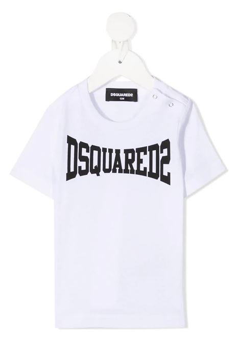 T-Shirt D2Kids Boxer Logo Bianca Neonato DSQUARED KID | T-Shirts | DQ0168-D00MVDQ100