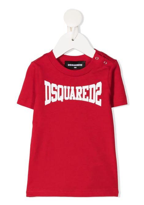 T-Shirt D2Kids Boxer Logo Rossa Neonato DSQUARED KID | T-Shirts | DQ0168-D00MVDQ405