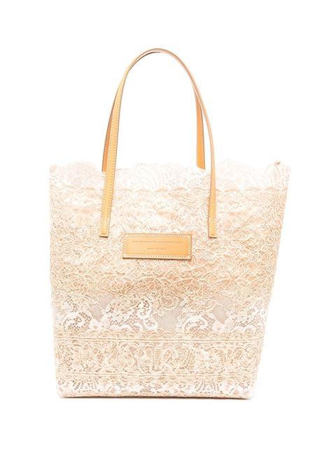 Beige And Nude Seeds Of Love Shopper ERMANNO SCERVINO | shoulder bags | D383S390QZRD3807